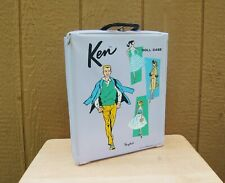 Ken Doll & Barbie Pony Tail Carry Case Wardrobe Lavender Vintage 1961 Mattel 13""