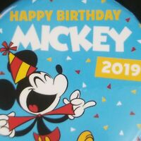 Mickey Mouse 2019 Happy Birthday Disney Parks Button In-Hand Ready to Ship Fast