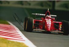 Gerhard Berger Hand Signed Ferrari 12x8 Photo F1 3.