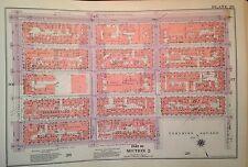 1955 EAST VILLAGE 8TH-14TH STREET MANHATTAN NY G.W. BROMLEY PLAT ATLAS MAP 12X17