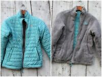 THE NORTH FACE Girls Size Small 7-8 Blue and Gray REVERSIBLE Jacket Coat