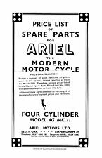 (0146) 1953-1957 Ariel 4G MkII 1000cc Square four parts book