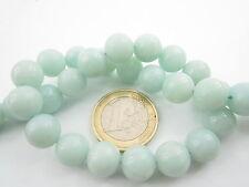1 filo di 40 perle in amazonite chiara di 10 mm  lungo 40 cm  1° scelta