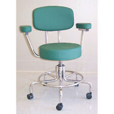 """Non-Magnetic Adjustable Chair with Casters 17""""-23""""  Seat with Back & Arms 1 ea"""