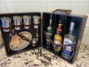 Vintage Ever-Wear Trav-L-Bar Travel Bar Set Portable Liquor 3-Bottle Slot NWT