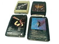 Lot of 4 Classic 70s Rock 8 Track Tapes - Eagles, Bee Gees, Steve Miller Band
