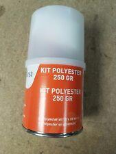 Kit Resine Polyester Durcisseur Fibre de verre 250gr  voiture bateau