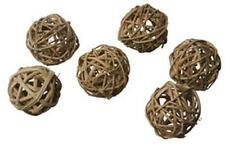 "Super Birds Mini Munch Balls- 3/4 "" -24 pieces - Natural Vine Twined Balls"
