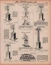 MODEL TRAIN Signals, Station Lamp, Bell Signal, etc, catalog page, original 1935
