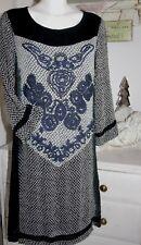 Cream  Kleid Dress  Print 3/4 Arm Pitch Black size: 40 Neu