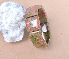 Unakit-Epidot  edelstein Armband, ca . 2 X 2 cm-- ( K-31)
