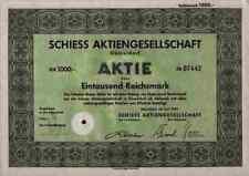 Schiess Düsseldorf Vulkan Bremen WEMA Aschersleben 1000 RM 1939 Maschinenbau