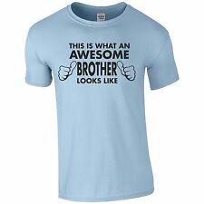 Awesome Brother Funny Tee T-Shirt Top Tumblr Novelty Gift Xmas Secret Santa