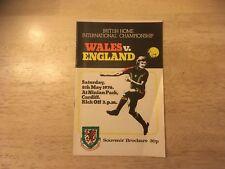 Wales v England British Championship May 1976
