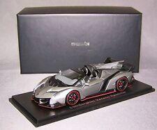 koysho 1/43: 05572gr Lamborghini Veneno Roadster, Gris Metalizado