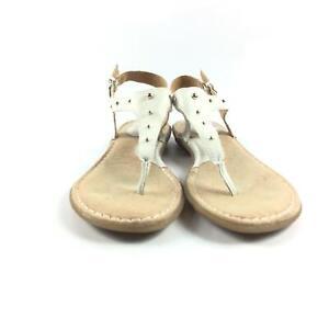 Børn Concept Beige Women's Sandal Floral Insole With Creme Colored Strap US 8