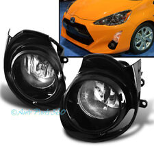 15-18 TOYOTA PRIUS C FRONT BUMPER DRIVING CHROME FOG LIGHTS LAMPS W/BEZEL+SWITCH