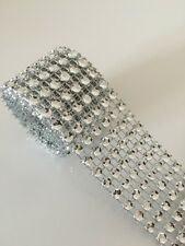 1M Crystal Diamante Sparkly Rhinestone EFFECT Mesh Ribbon BLING Trim CARD CRAFT