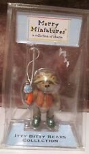 Hallmark Merry Miniature Mini Figurine Itty Bitty Bear Collection Fisher Fishing