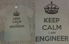 BNWT Keep Calm I Am Engineer Grey Slogan/Funny Tshirt/Top Present/Gift Sz Small