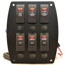 Tracker Boat Rocker Switch Panel 160751 | 284 Mako 2011 Black / Red