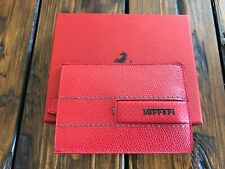 Genuine Ferrari Red Card Holder Pouch Extremely RARE Made in Italy New in BOX