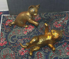 Rutledge / Freeman McFarlin ceramic Kittens vintage mid-century gold leaf 50s