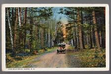 1922 Keene, New Hampshire Five Mile Drive old Car postcard