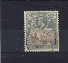 St Helena 1922-27 2d torn flag FU CDS