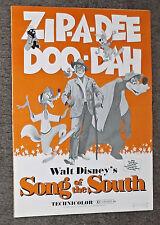 SONG OF THE SOUTH original DISNEY movie pressbook