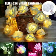 10/20 LED Rose Light String Fairy Lights Bedroom Christmas Wedding Party Decor.