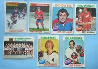 Lot of (14) 1970s Topps Hockey Cards Bossy Bergman Lagace Shutt Wash Caps + more