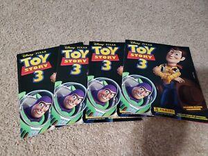 Four (4) 2010 Panini Disney Pixar Toy Story 3 Sticker Albums New & Unused