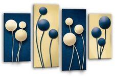 Floreale art. a muro Astratta foto stampa floreale crema blu pannello multi