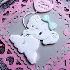 Bow Animal Doll Dies Baby Girl Elephant Love Balloon Metal Cutting Scrapbooking