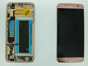 SAMSUNG GALAXY S7 EDGE G935F LCD TOUCH SCREEN DISPLAY ORIGINAL GENUINE PINK GOLD