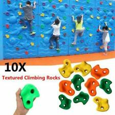 10Pcs Children's Climbing Stones Plastic Holds Grips For Kids Rock Climbing Wall