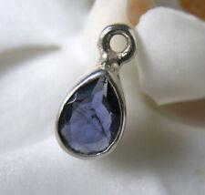 blauer iolith silber einhänger,  hoch gefasst ,11,5x5,8x3,8mm, sterling 925