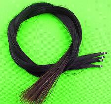 5 hanks Black Violin/Cello Bow hair. Mongolian Horse Tail Hair