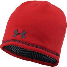 under armour mens coldgear infrared fleece beanie hat steel gray osfm