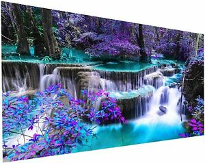 Large Landscape Waterfall DIY 5D Diamond Drill Embroidery Wall Art Home Decor