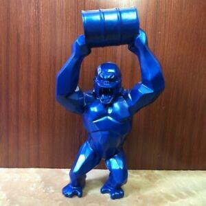 King Kong Lifting Bucket Barrel Resin Figurine For Living Room Decoration Statue