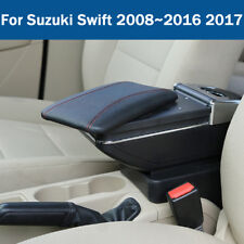 Leather Car Center Console Armrest Storage Box For Suzuki Swift 2008~2016 2017