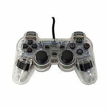 PS2 PlayStation 2 Wired Replacement Controller Transparent Clear By Mars 8Z
