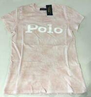 Polo Ralph Lauren Women's SZ L Tie-Dyed Crew neck short sleeve T-Shirt Pink