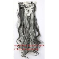 100% Real Natural as human Hair 18Clips Full Head Clip In Hair Extensions Thick