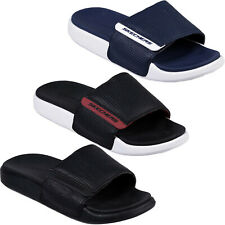 Skechers Gambix 2.0 Slides Adjustable Strap Sports Flip Flops Sandals Mens 51729
