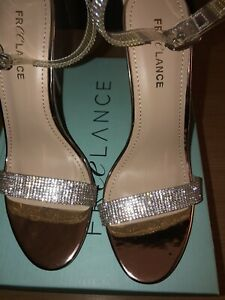 Freelance Rose Gold And Sparkle High Heels Size 39 New