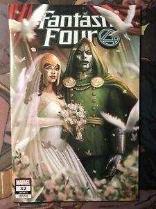 Fantastic Four #32 ComicTom 101 MMC Variant by EDGE Dr Doom wedding