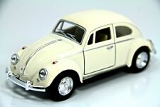 "5"" Kinsmart 1967 VW Volkswagen Beetle Diecast Model Toy Car 1:32 Pastel White"